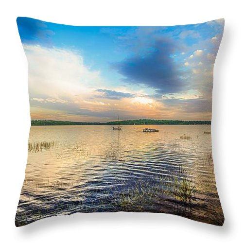 Nature Throw Pillow featuring the photograph Panoramic Sunset by Cke Photo