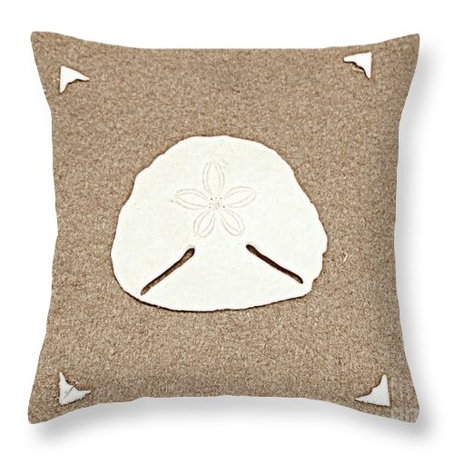 Shell Throw Pillow featuring the photograph Full Pansy Shell by David Botha