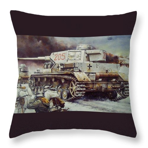 Panzer Iv Tank-768 Throw Pillow