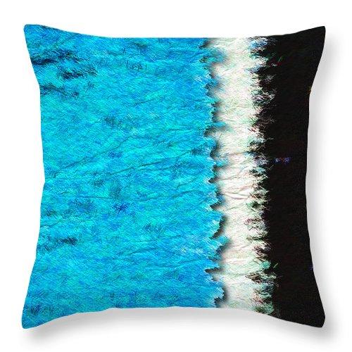 Blue Throw Pillow featuring the photograph Papier A La Main by Paul Wear