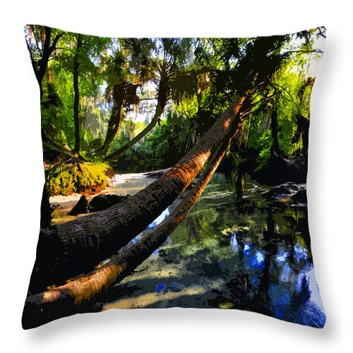 Paradise Throw Pillow featuring the painting Paradise Found by David Lee Thompson