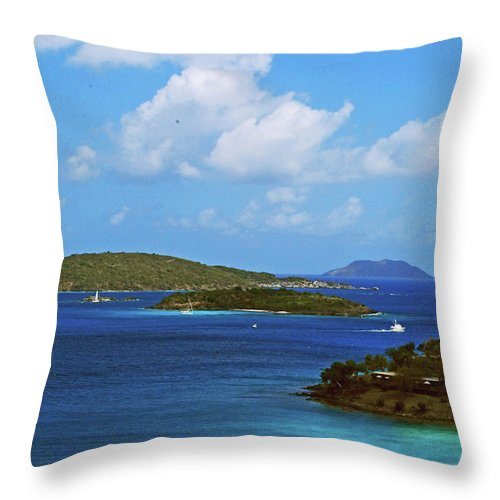 Blue Sky Throw Pillow featuring the photograph Paradise by Gary Wonning