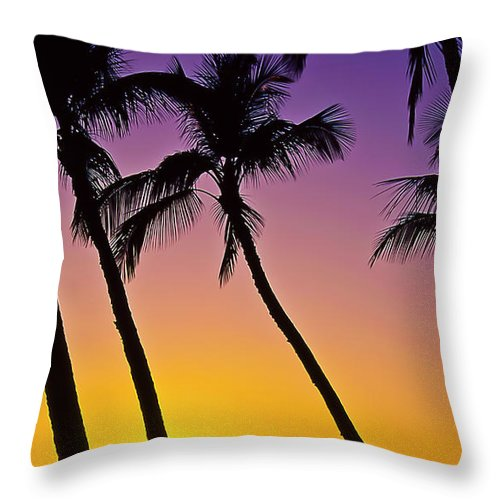 Sunset Throw Pillow featuring the photograph Paradise by Jim Cazel