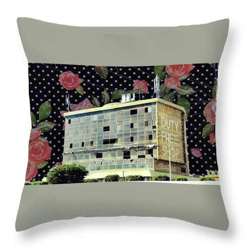 Building Throw Pillow featuring the digital art Paradise Lost by Tooba Saleem