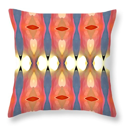 Abstract Art Throw Pillow featuring the painting Paradise Repeated by Amy Vangsgard