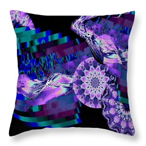 Kaleidoscope Throw Pillow featuring the digital art Paradisio by Charmaine Zoe