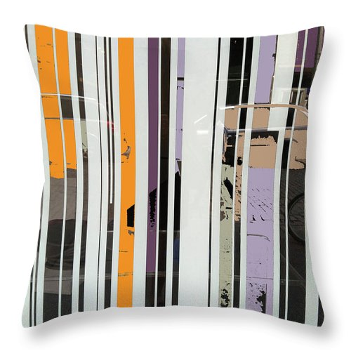 Stripes Throw Pillow featuring the digital art Parallel Lines by Ceil Diskin