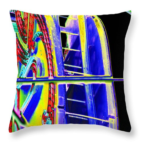 Seattle Throw Pillow featuring the digital art Paramount Theater Detail by Tim Allen