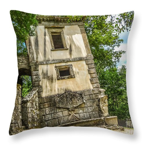 Ancient Throw Pillow featuring the photograph Parco Dei Mostri, Park Of The Monster, In Bomarzo by JR Photography