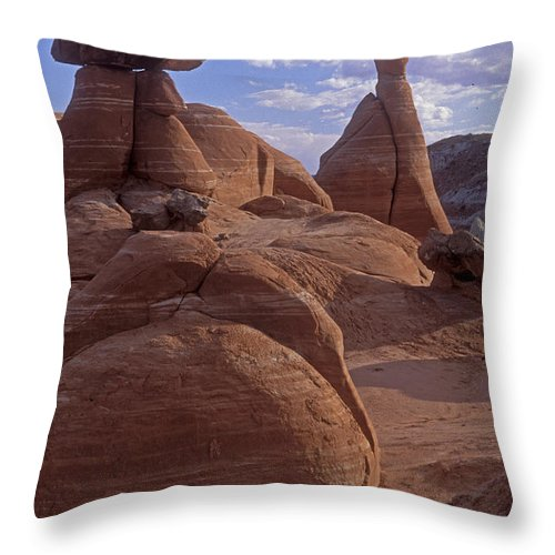 Southwest Throw Pillow featuring the photograph Paria Canyon Hoodoos by Sandra Bronstein