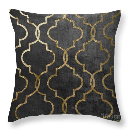 Silver Throw Pillow featuring the painting Paris Apartment III by Mindy Sommers