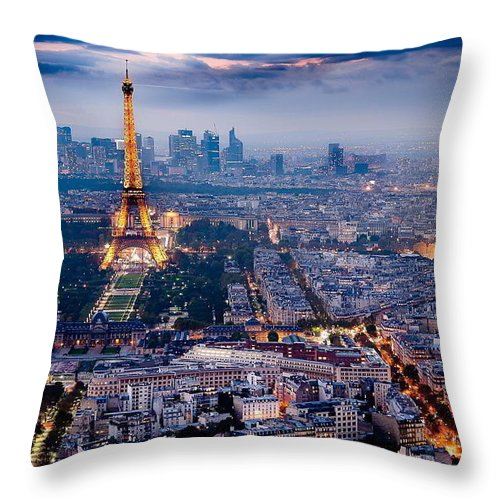 Throw Pillow featuring the photograph Paris by Mariam Ziani