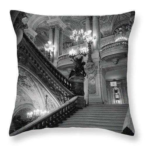 Paris Opera House Grand Staircase Opera Garnier Black And White