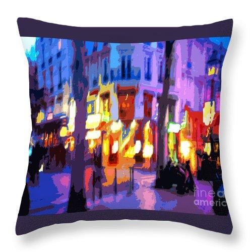 Paris Throw Pillow featuring the photograph Paris Quartier Latin 02 by Yuriy Shevchuk