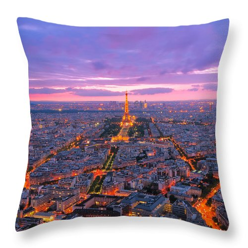 Capital Throw Pillow featuring the photograph Parisian Nights Paris by Andre Distel