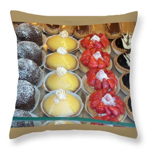 Sweets Throw Pillow featuring the photograph Parisian Pastries by Norma Jean Lipert