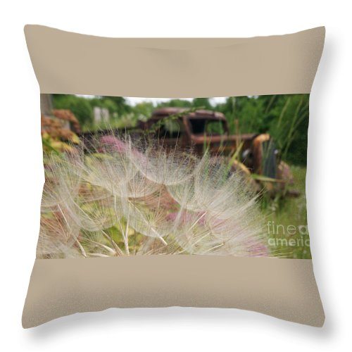 Truck Throw Pillow featuring the photograph Parked Beside The Oyster Bed by Linda Shafer