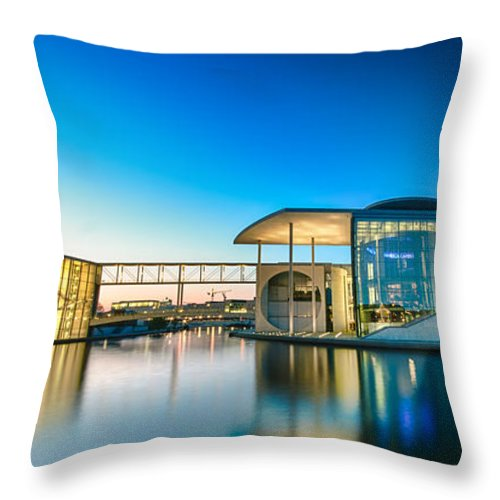 Berlin Throw Pillow featuring the digital art Parliament Pano by Nathan Wright