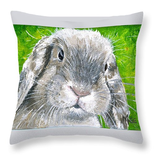 Charity Throw Pillow featuring the painting Parsnip by Mary-Lee Sanders