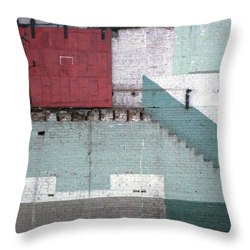 Abstract Throw Pillow featuring the photograph Partial Demolition by Richard Rizzo