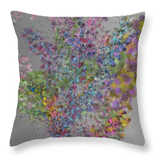 Bold Throw Pillow featuring the digital art Particulation 9-20-2015 #5 by Steven Harry Markowitz