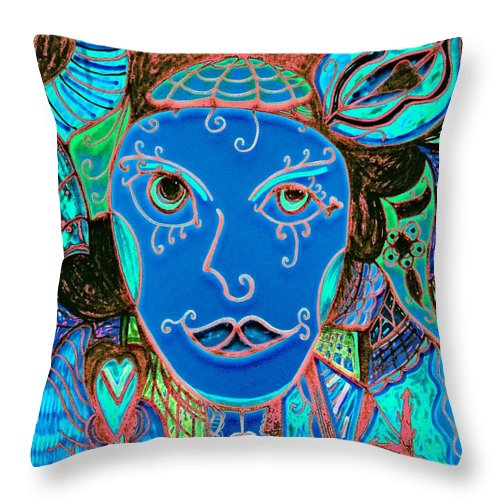 Party Girl Throw Pillow featuring the painting Party Girl by Natalie Holland