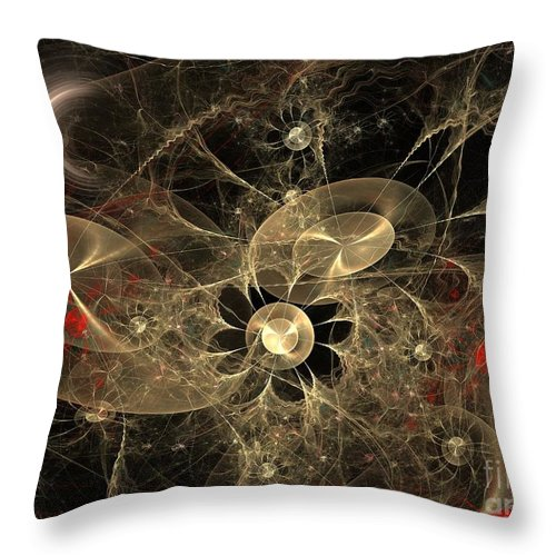 Apophysis Throw Pillow featuring the digital art Party Of The Universe by Deborah Benoit