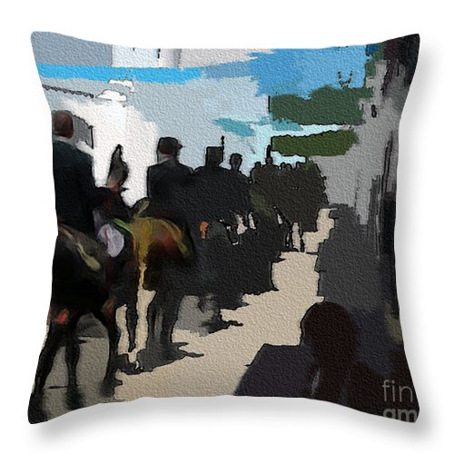 Ebsq Throw Pillow featuring the photograph Paseo 2 by Dee Flouton