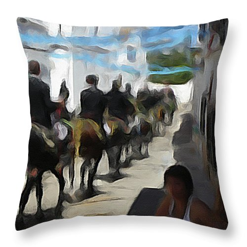 Parade Throw Pillow featuring the photograph Paseo by Dee Flouton