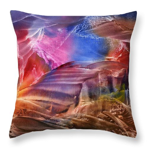 Steps Throw Pillow featuring the painting Passage IIi by Eileen Fong