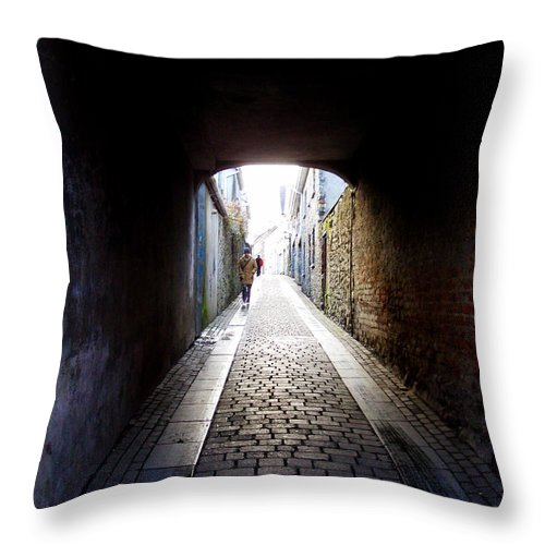 Cooblestone Throw Pillow featuring the photograph Passage by Tim Nyberg