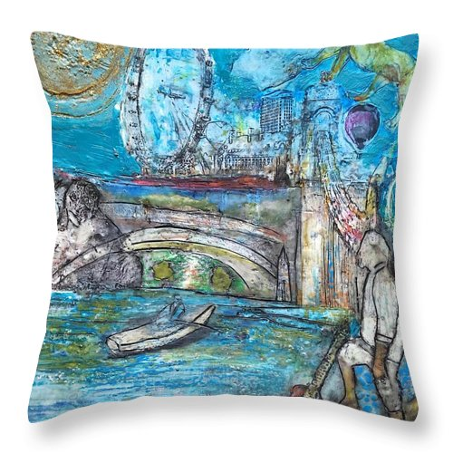 In Dedication To My Wonderful Nephew Jack. We All Miss You And Love You And Are Still In Our Hearts. Hope Your World Is Full Of Joy Throw Pillow featuring the painting Passing Over by Marcia Lara