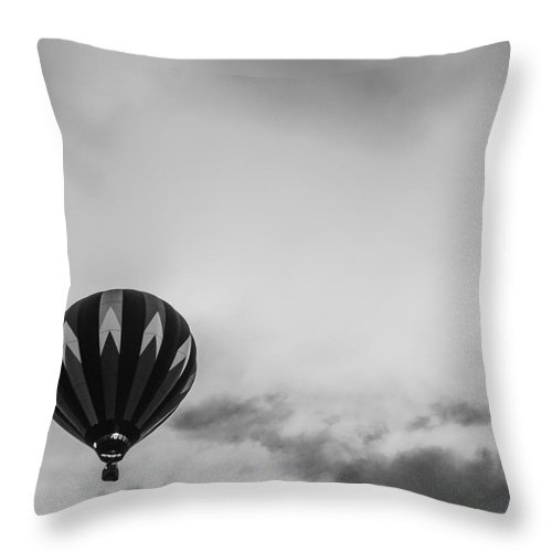 Balloon Throw Pillow featuring the photograph Passing The Cloud by Victory Designs