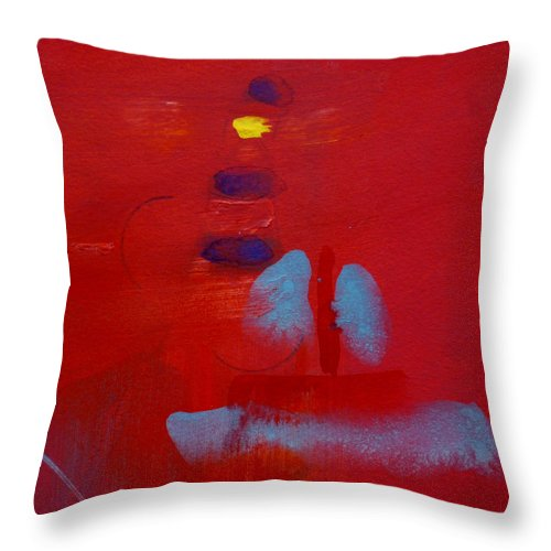 Lighthouse Throw Pillow featuring the painting Passing The Lighthouse by Charles Stuart