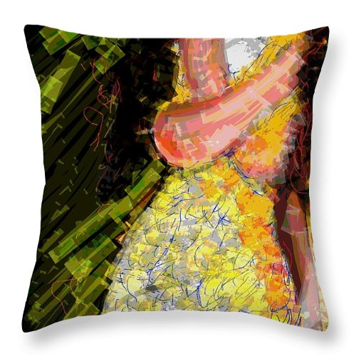 Love Throw Pillow featuring the digital art Passion And Love by Subrata Bose