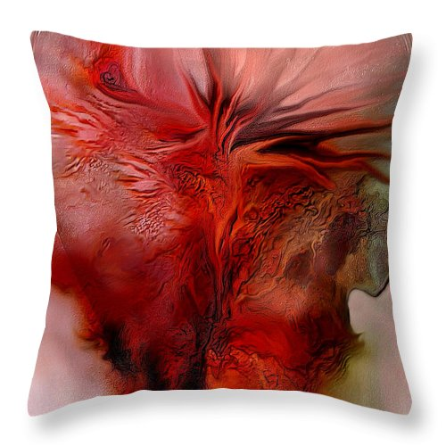 Abstract Throw Pillow featuring the mixed media Passion by Carol Cavalaris