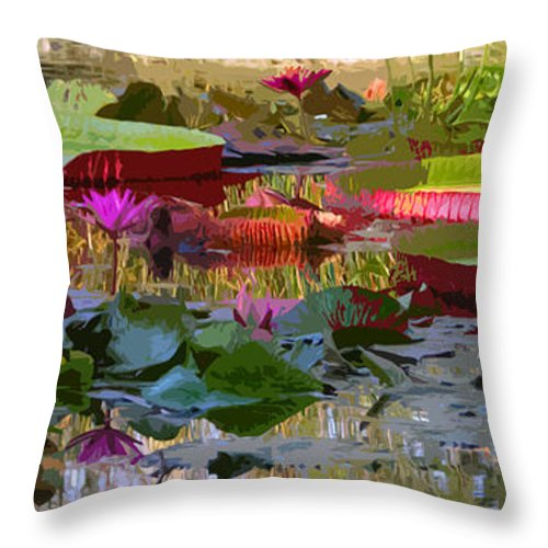 Water Lilies Throw Pillow featuring the photograph Passion for Beauty by John Lautermilch
