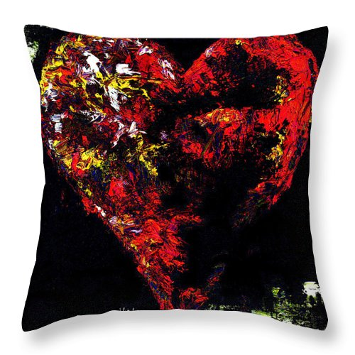 Heart Throw Pillow featuring the painting Passion by Hiroko Sakai