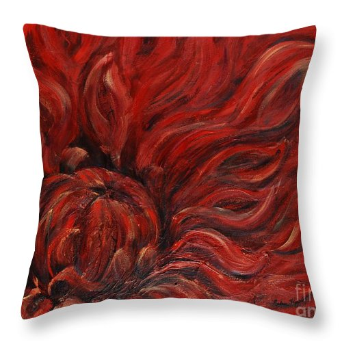 Flower Throw Pillow featuring the painting Passion IV by Nadine Rippelmeyer