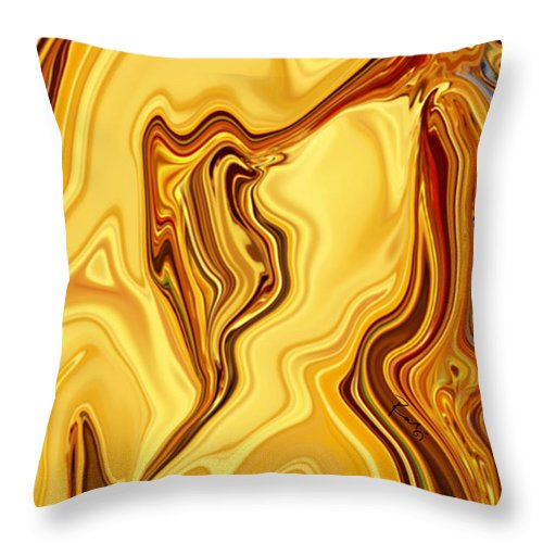 Abstract Throw Pillow featuring the digital art Passion by Rabi Khan