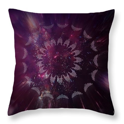 Fireworks Throw Pillow featuring the photograph Passion by Sheila Ping
