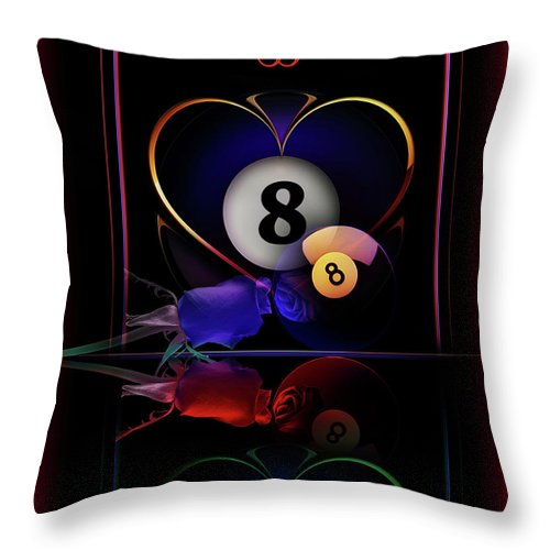 Pool Throw Pillow featuring the digital art Passions by Draw Shots