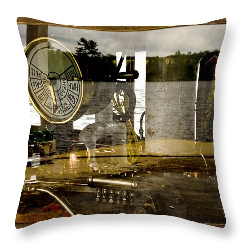 Nautical Throw Pillow featuring the photograph Past And Present by Linda McRae
