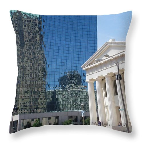 St.louis Throw Pillow featuring the photograph Past And Present Reflections by Peggy King