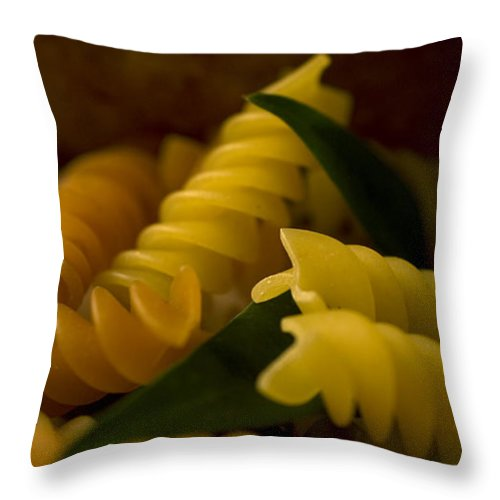 Pasta Throw Pillow featuring the photograph Pasta by Jessica Wakefield