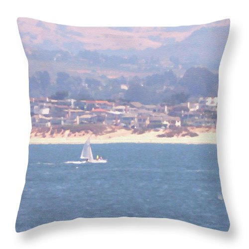 Sailing Throw Pillow featuring the photograph Pastel Sail by Pharris Art