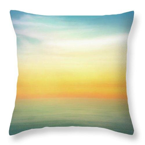 Pastel Throw Pillow featuring the digital art Pastel Sunrise by Scott Norris