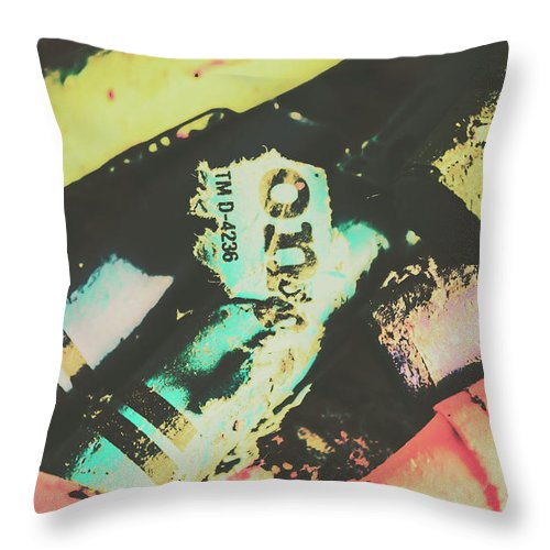 Pastel Throw Pillow featuring the photograph Pastel Toned Crayons by Jorgo Photography - Wall Art Gallery