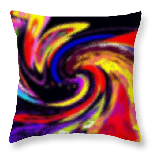 Abstract Throw Pillow featuring the digital art Pastel Voyager by Ian MacDonald
