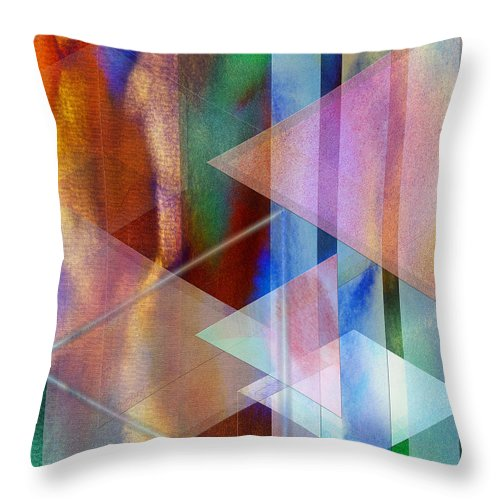 Pastoral Midnight Throw Pillow featuring the digital art Pastoral Midnight by John Beck